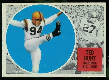 Ted Hunt 1960 Topps CFL football card