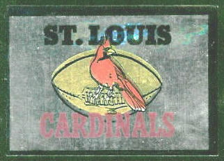 St. Louis Cardinals 1960 Topps Metallic Stickers football card