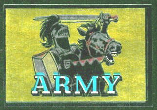 Army Cadets 1960 Topps Metallic Stickers football card