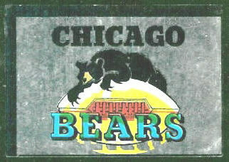 Chicago Bears 1960 Topps Metallic Stickers football card