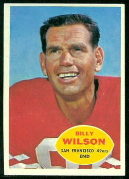 Billy Wilson 1960 Topps football card
