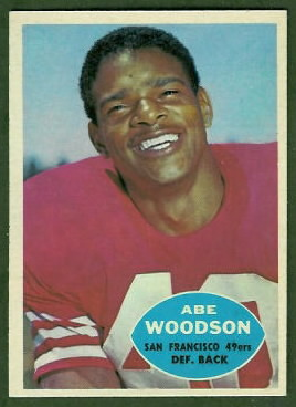 Abe Woodson 1960 Topps football card