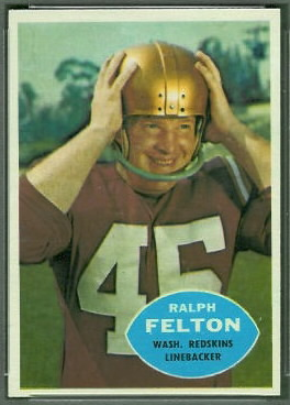 Ralph Felton 1960 Topps football card