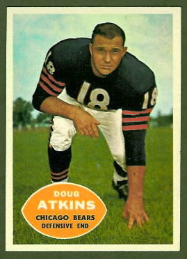 1960 Topps Doug Atkins football card