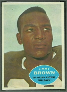 Jim Brown 1960 Topps football card