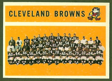 Cleveland Browns Team 1960 Topps football card
