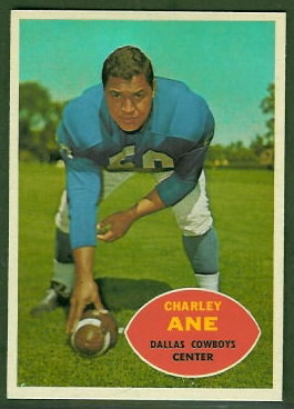 Charlie Ane 1960 Topps football card