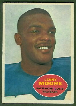 Lenny Moore 1960 Topps football card