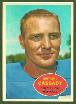 Howard Cassady 1960 Topps football card