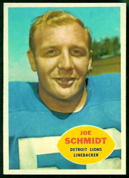 Joe Schmidt 1960 Topps football card