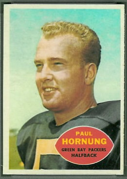 Paul Hornung 1960 Topps football card