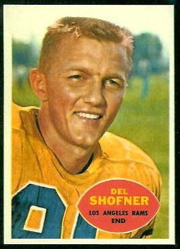 1960 Topps Del Shofner football card