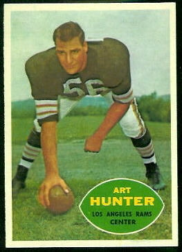 Art Hunter 1960 Topps football card