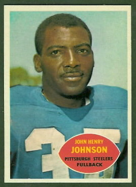 John Henry Johnson 1960 Topps football card