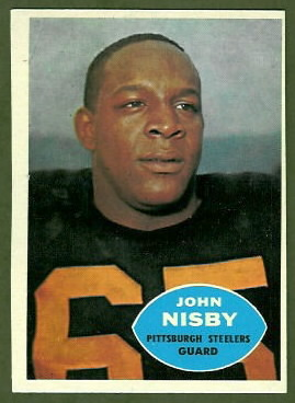 John Nisby 1960 Topps rookie football card