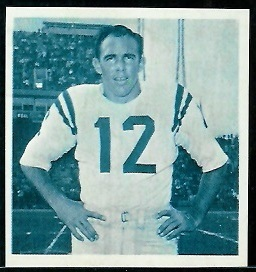 John Brodie 1961 Fleer Wallet Pictures football card