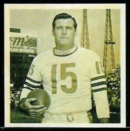 Ed Brown 1961 Fleer Wallet Pictures football card