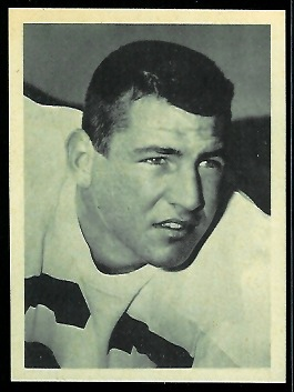 Ken Adamson 1961 Fleer Wallet Pictures football card