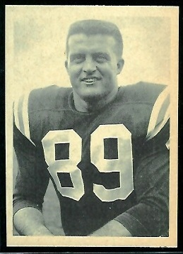 Bob Dee 1961 Fleer Wallet Pictures football card