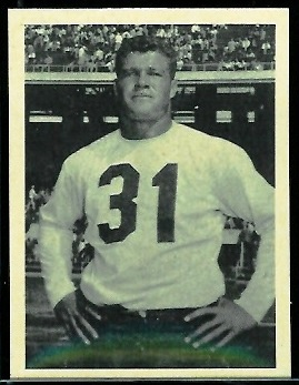 Mal Hammack 1961 Fleer Wallet Pictures football card