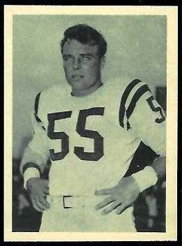 Matt Hazeltine 1961 Fleer Wallet Pictures football card