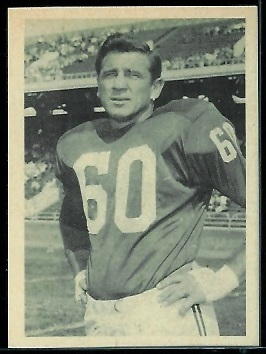 Chuck Bednarik 1961 Fleer Wallet Pictures football card