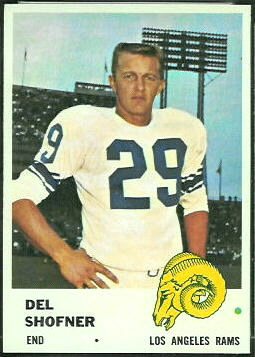 Del Shofner 1961 Fleer football card