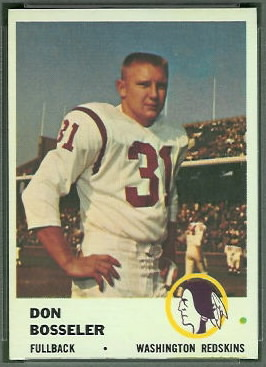 Don Bosseler 1961 Fleer football card