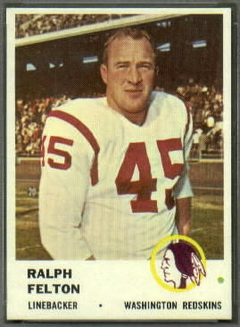 Ralph Felton 1961 Fleer football card