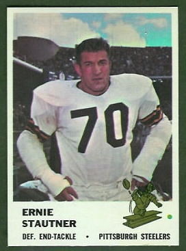 Ernie Stautner 1961 Fleer football card