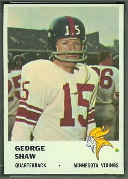 George Shaw 1961 Fleer football card