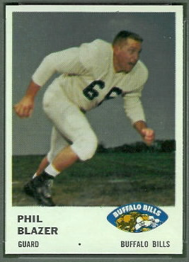 Phil Blazer 1961 Fleer football card
