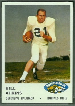 Bill Atkins 1961 Fleer football card