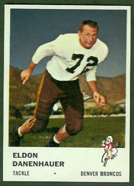 Eldon Danenhauer 1961 Fleer football card