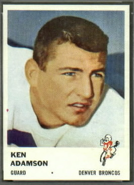 Ken Adamson 1961 Fleer football card
