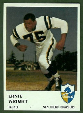 Ernie Wright 1961 Fleer football card