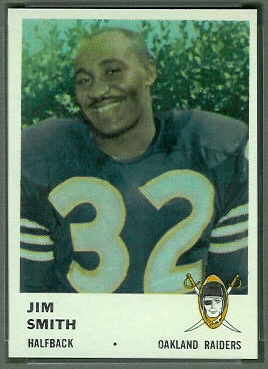 Jim Smith 1961 Fleer football card