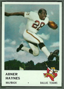 Abner Haynes 1961 Fleer football card