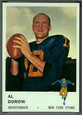 Al Dorow 1961 Fleer football card