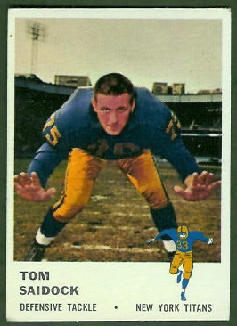 Tom Saidock 1961 Fleer football card