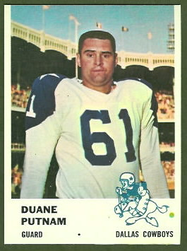 Duane Putnam 1961 Fleer football card