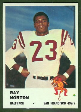 Ray Norton 1961 Fleer football card