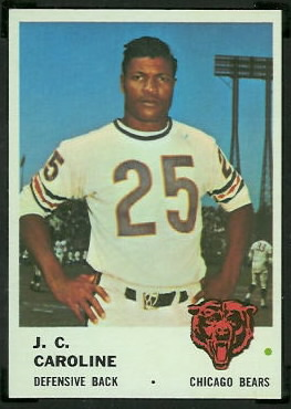 J.C. Caroline 1961 Fleer football card