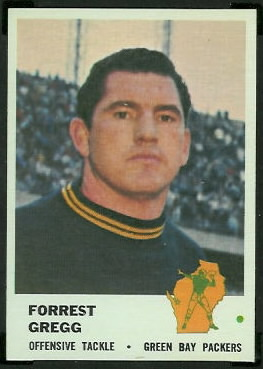 Forrest Gregg 1961 Fleer football card