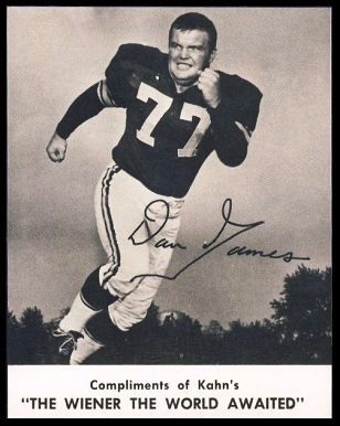 Dan James 1961 Kahns football card