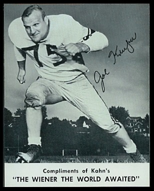 Joe Krupa 1961 Kahns football card