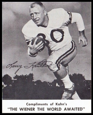 1961 Kahn's Wieners Larry Krutko football card