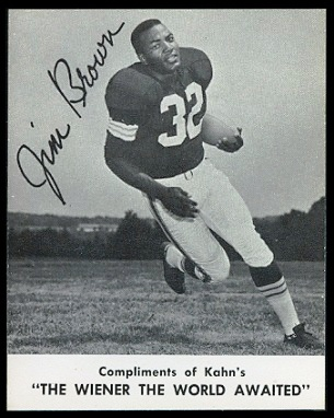 Jim Brown 1961 Kahn's Wieners football card