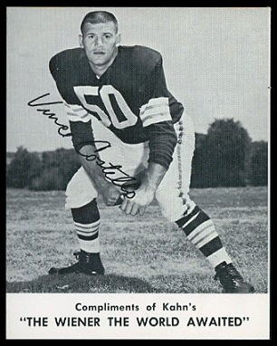 Vince Costello 1961 Kahns football card