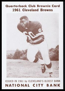 John Wooten 1961 National City Bank Browns football card